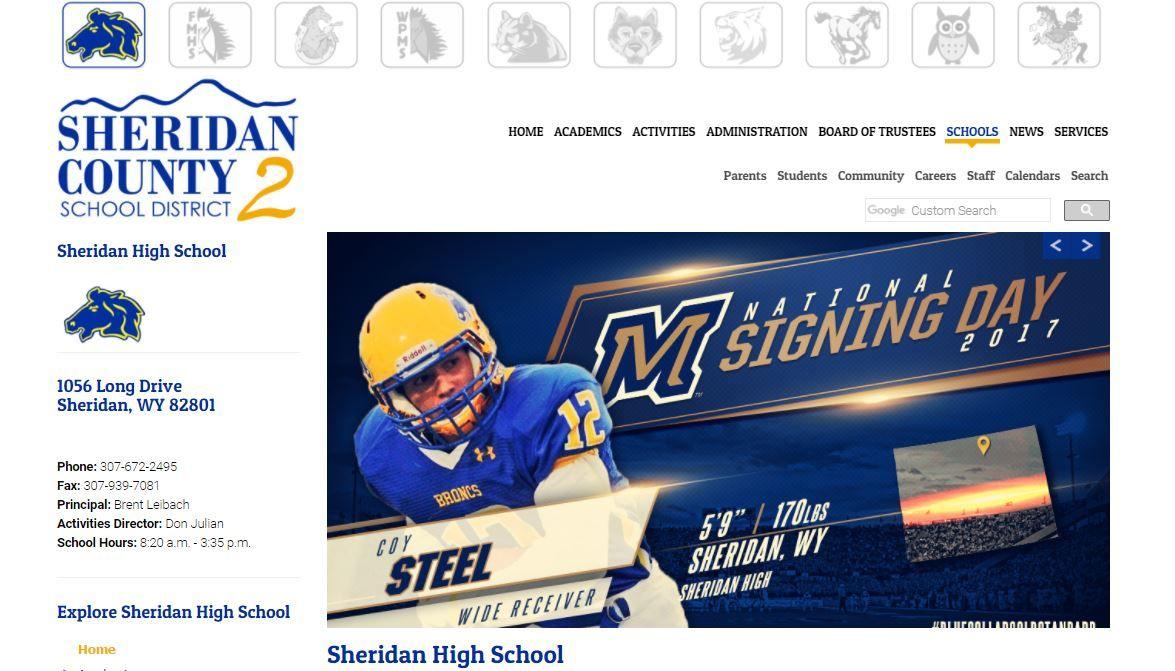 Sheridan County School District 2 Website