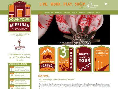 Downtown Sheridan Association Website