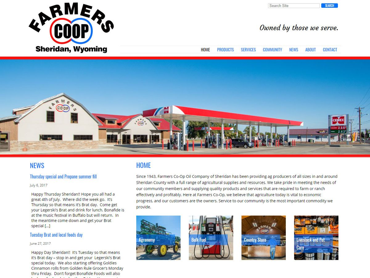 Sheridan Farmers Co-Op Website