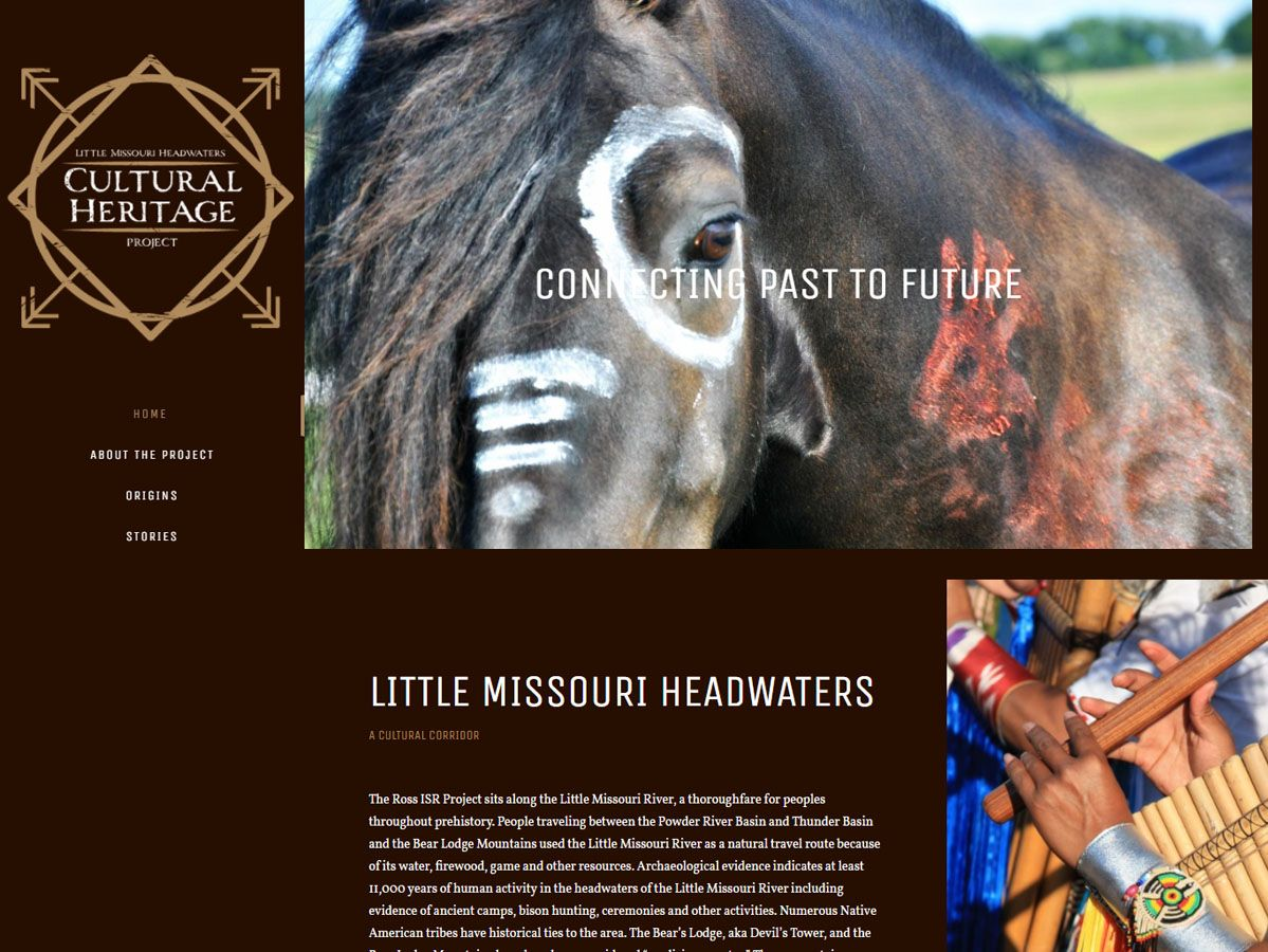 Little Missouri Headwaters Cultural Heritage Project Website