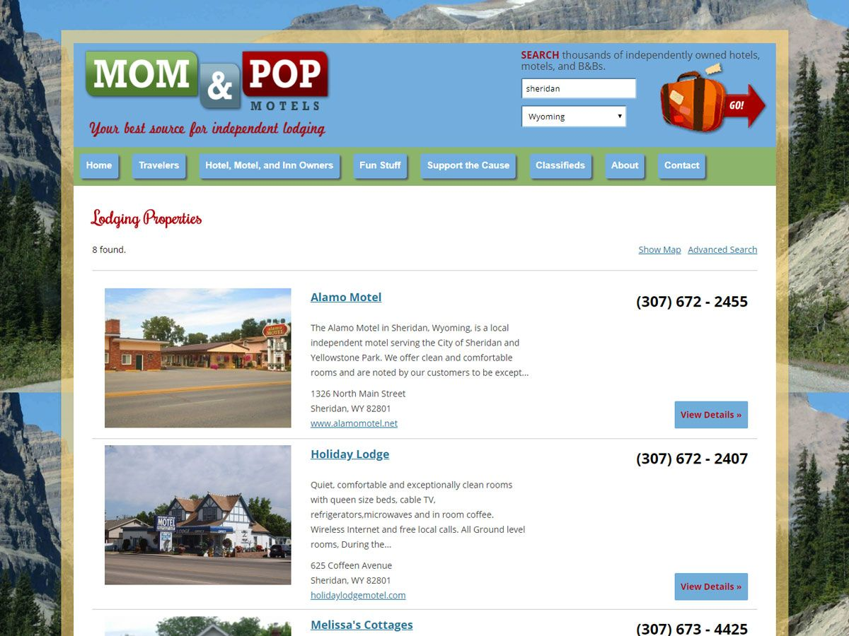 Mom and Pop Motels Website