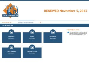 Sheridan County Capital Facilities Tax website created by Confluence Collaborative