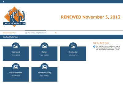 Sheridan County Capital Facilities Tax Website