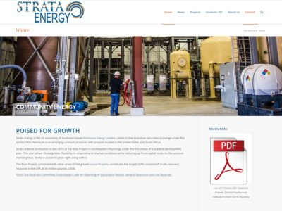 Strata Energy Website