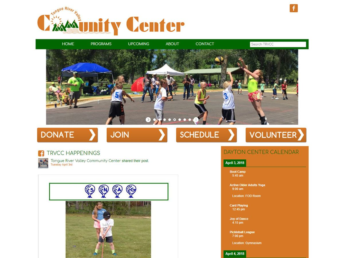 Tongue River Valley Community Center Website