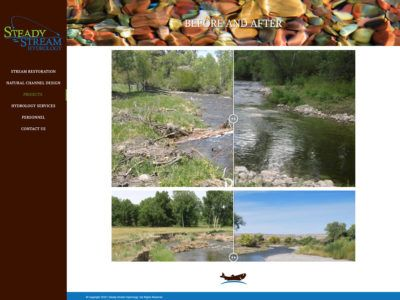 Steady Stream Hydrology website created by Confluence Collaborative