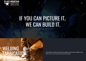 Black Mountain Forge website created by Confluence Collaborative